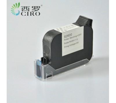 TIJ手持喷码机溶剂墨水快干墨盒45喷头S2600速干墨盒