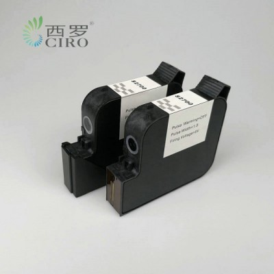 TIJ喷码机溶剂墨水快干墨盒黑色喷头高度25.4mm一英寸头