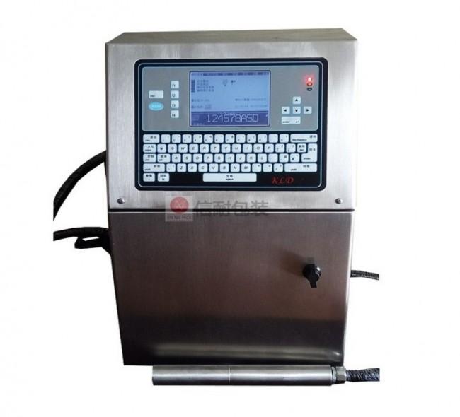 全自动流水线小字符喷码机厂家打日期线缆白墨口罩激光喷墨打码机