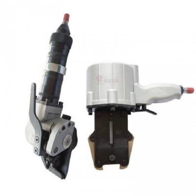 气动钢带打包机分体式 拉紧锁扣价格好操作的打包机钢带捆扎机